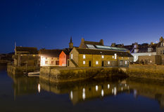 Stromness by night. Orkney's second most populated town stock photography
