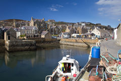 Stromness. Orkney. Orkney's second most populated town stock images