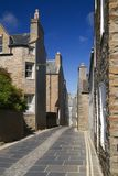Stromness street. The main street in Stromness, Orkney's second town stock photography