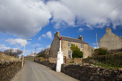 Stromness street with leading lights Stock Image