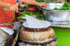 Strompulver für das Kochen des traditionellen thailändischen Lebensmittels Stockfotos