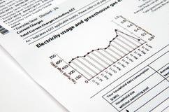 Stromrechnung Lizenzfreie Stockfotos