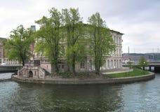 Stromsborg ö i den gamla staden Stockholm Royaltyfri Fotografi