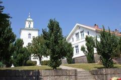 Stromstads-kyrka am Sommertag Lizenzfreie Stockfotografie