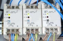 Stromversorgung des elektrischen Stroms Stockfotos