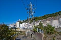 Stromversorgung zur Papiermühle Stockfotografie