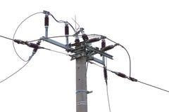 Stromversorgungs-Versorgungslinie Stockbild