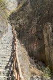 Stromy kamienny schody zdjęcia royalty free