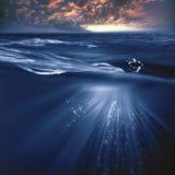 Stromy ocean Stock Photography