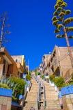 Stromy schody w Puno, Peru fotografia royalty free