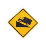 Stromy stopnia wzgórza ruchu drogowego znak na białym tle fotografia royalty free