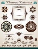 Stron dekoracje, Bożenarodzeniowa kolekcja Fotografia Stock