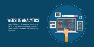 Stron internetowych analityka, dane analiza, wprowadzać na rynek raport, pojęcie, biznesowego informaci, przyrosta i występu, Pła royalty ilustracja