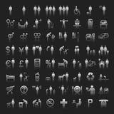 Stron internetowych i Internetów Ikony -- Ludzie Zdjęcia Stock