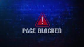 Strona Blokujący Raźny Ostrzegawczy błąd wiadomości mruganie na ekranie ilustracja wektor