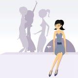 strona dziewczyny Fotografia Stock