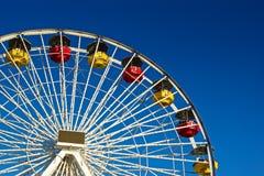 Strona Ferris gondole i koło Zdjęcie Royalty Free