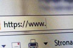 Strona internetowa adres zdjęcia stock