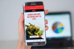 Strona internetowa areny firma na telefonu ekranie fotografia stock