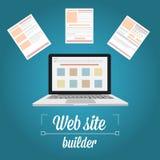 Strona internetowa budowniczy, szablonu prototyping Fotografia Stock