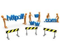strona internetowa budowy Obrazy Royalty Free