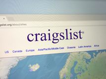 Strona internetowa Craigslist Fotografia Stock