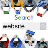 Strona internetowa dane networking Internetowy Ogólnospołeczny Medialny pojęcie Obraz Stock