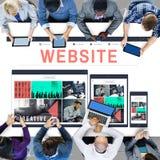 Strona internetowa dane networking Internetowy Ogólnospołeczny Medialny pojęcie Obraz Royalty Free