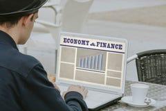 Strona internetowa gospodarka i finanse Fotografia Stock