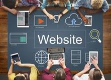Strona internetowa gracza rewizi ikon Światowy pojęcie Obraz Stock