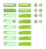 Strona internetowa guziki w zieleni Zdjęcie Stock