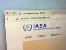 Strona internetowa IAEA Międzynarodowa energii atomowej agencja obrazy stock