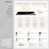 Strona internetowa interfejsu szablonu projekt wektor Obraz Stock