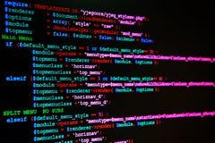 Strona internetowa język programowania Obrazy Stock