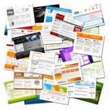 Strona Internetowa - Kolorowa obfitość Webdesign szablonów tło royalty ilustracja