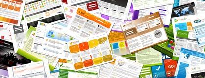 Strona internetowa - Kolorowa Webdesign szablonów panorama - sztandar royalty ilustracja