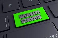 strona internetowa komputeru zieleń wchodzić do klucz Zdjęcie Stock