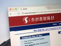 Strona internetowa Koreańskiej centrali wiadomości agencja - KCNA Obrazy Stock