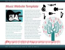 Strona internetowa muzyczny szablon royalty ilustracja