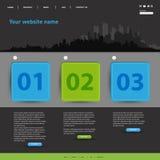 Strona internetowa nowożytny szablon Obrazy Stock