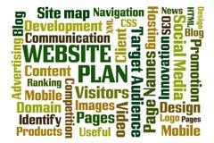 Strona internetowa plan Obraz Royalty Free