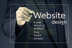 Strona internetowa projekt Fotografia Stock