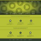 Strona internetowa projekt z Media Player kontrola ikon wzorem Zdjęcie Stock