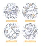 Strona internetowa projekta Doodle ilustracje ilustracji