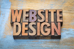 Strona internetowa projekta słowa abstrakt w drewnianym typ Obraz Royalty Free