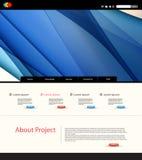 Strona internetowa projekta szablon Zdjęcie Royalty Free
