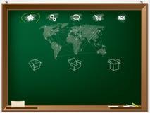 Strona internetowa projekta szablon rysujący na chalkboard Fotografia Royalty Free