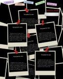 Strona internetowa projekta szablon z natychmiastowymi fotografiami Zdjęcie Stock