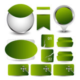 Strona internetowa projekta szablonu element wektor EPS10 Obrazy Royalty Free