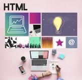 Strona internetowa projekta UI oprogramowania WWW Medialny pojęcie Zdjęcie Stock